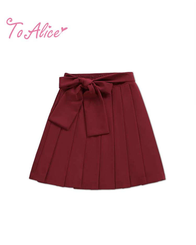 画像1: 【To Alice】C1023和風プリーツスカート (1)