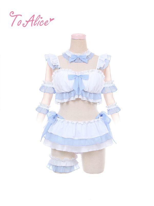 画像1: 【To Alice】C5394フェアリービキニセット (1)