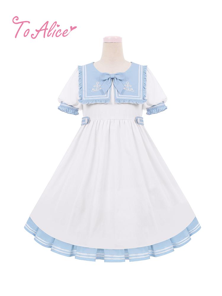 画像1: 【To Alice】C5473マリンスクエアセーラーワンピース《予約受付》 (1)
