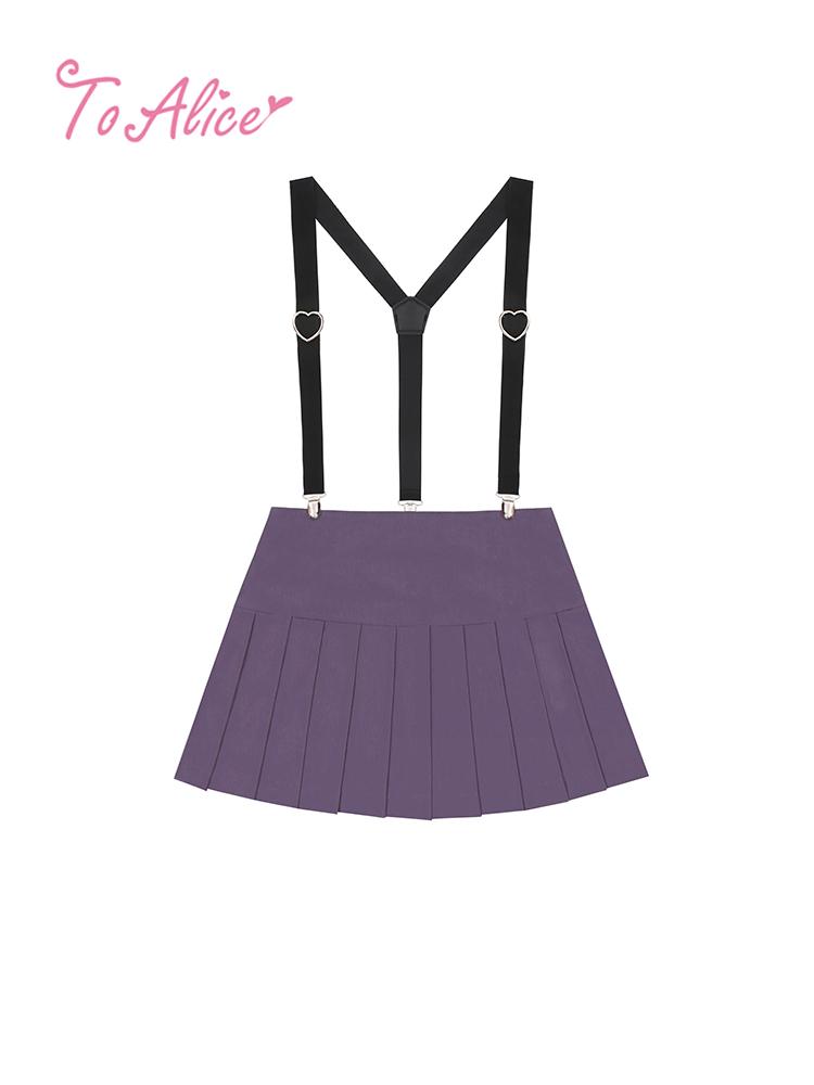 画像1: 【To Alice】C5717サス付きプリーツキュロットスカート【40%OFF】 (1)