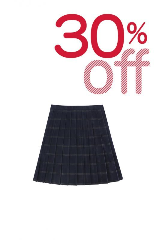 画像1: 【30%OFF】【To Alice】J456チェックプリーツスカート (1)