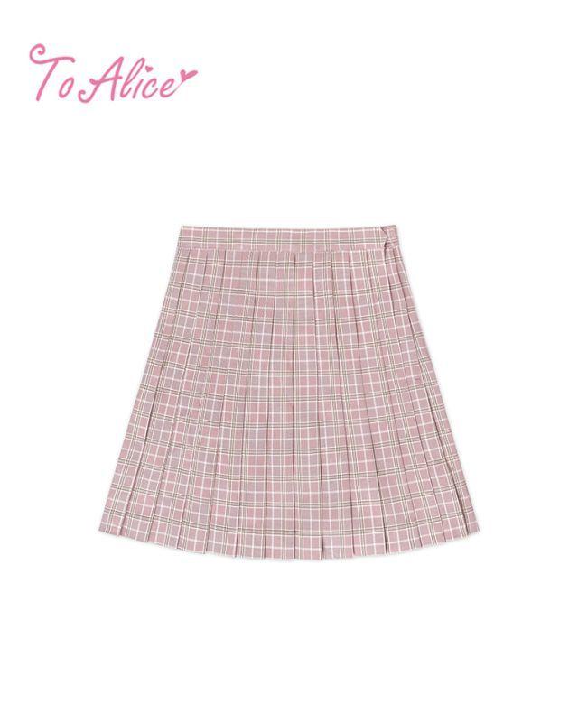 画像1: 【20%OFF】【To Alice】J474チェックプリーツスカート (1)