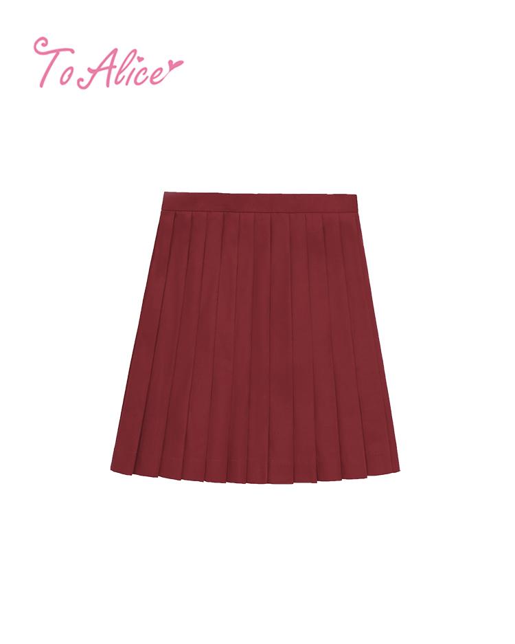 画像1: 【20%OFF】【To Alice】J547プリーツスカート (1)