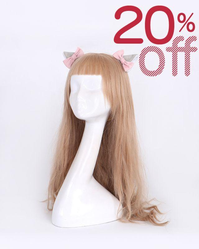 画像1: 【20%OFF】【To Alice】S1023ねこみみクリップ (1)