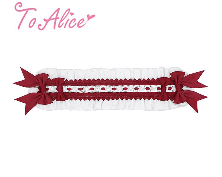 画像1: 【To Alice】S1290摘みたていちごクリップ付きヘッドドレス (1)