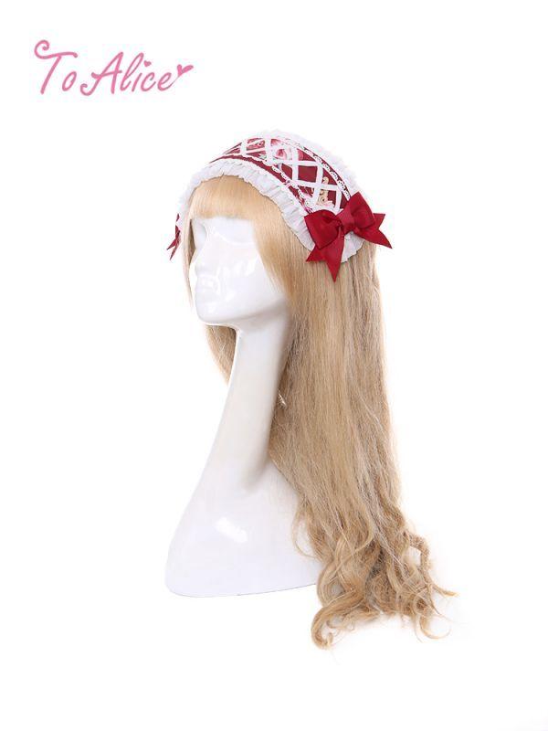 画像1: 【To Alice】S1303コットンキャンディリボンヘッドドレス (1)