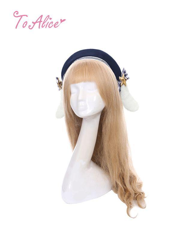 画像1: 【To Alice】S1308うさみみ付きベレー帽 (1)