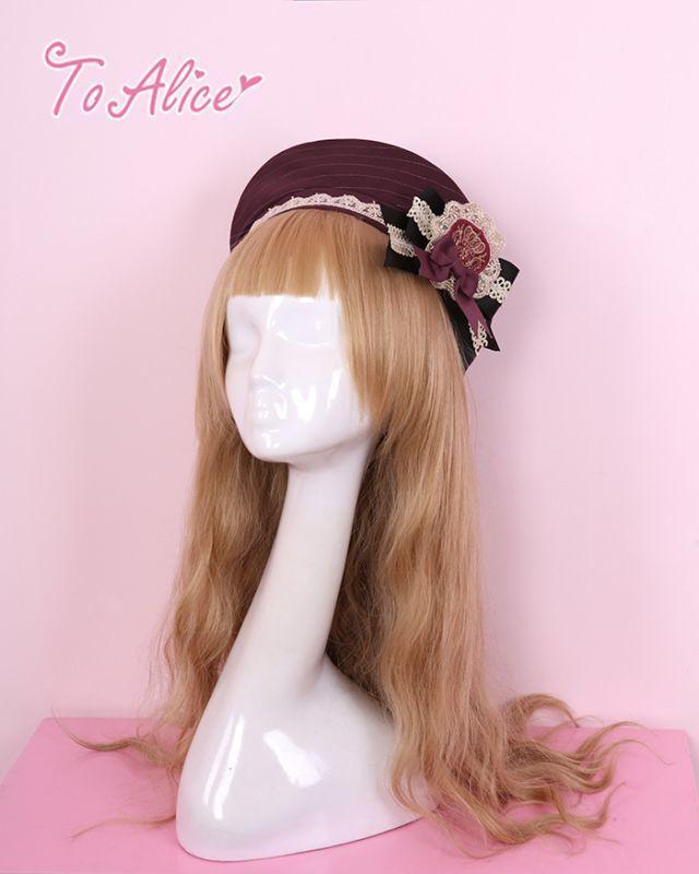 画像1: 【To Alice】S263エンブレムブローチ付きベレー帽 (1)