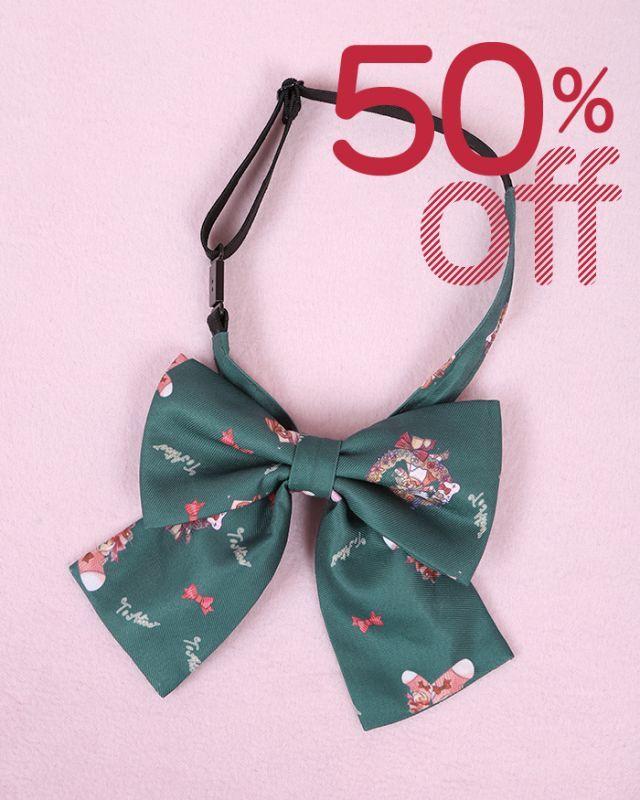画像1: 【50%OFF】【To Alice】S360クリスマス制服リボン (1)