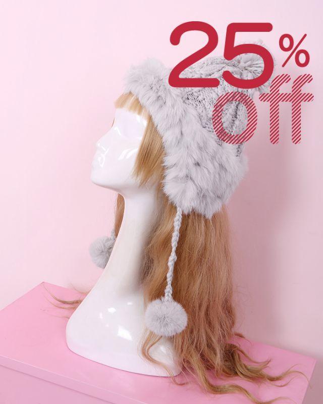 画像1: 【25%OFF】【To Alice】S447秋冬ポンポン付きニット帽 (1)
