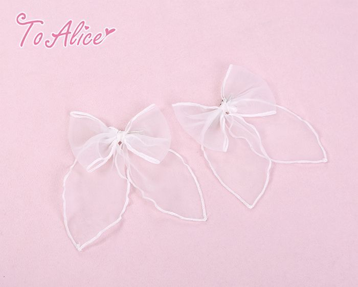 画像1: 【To Alice】S533リボンヘアクリップ (1)