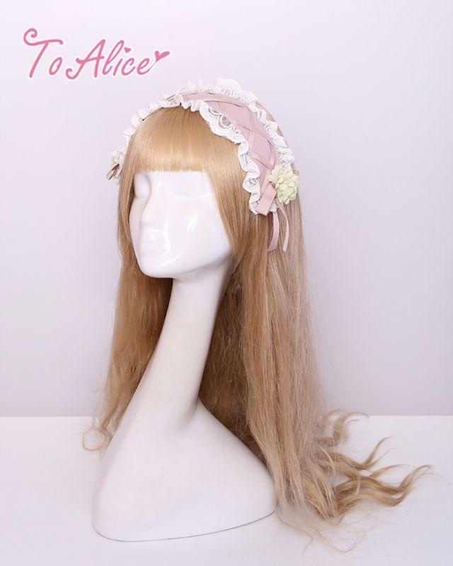 画像1: 【To Alice】S55117フラワーヘッドドレス風カチューシャ (1)