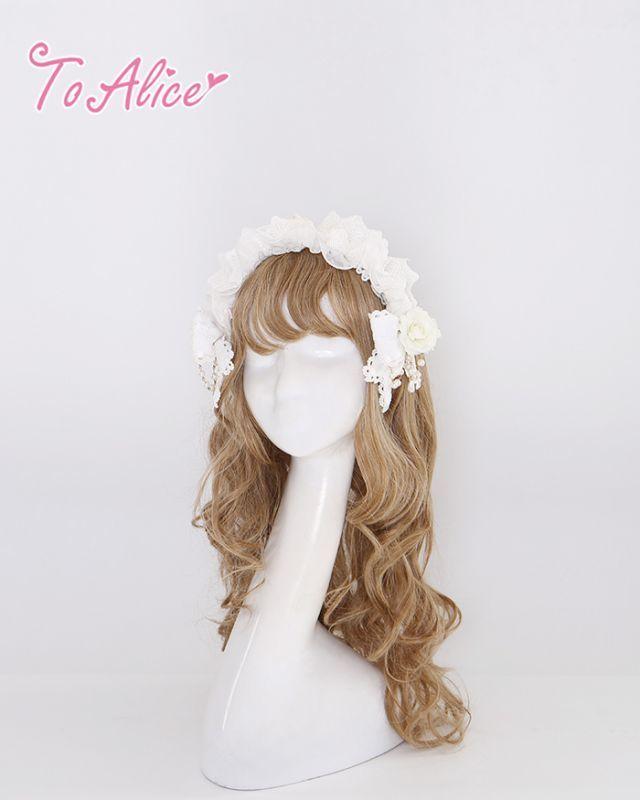 画像1: 【To Alice】S813薔薇パールカチューシャ (1)