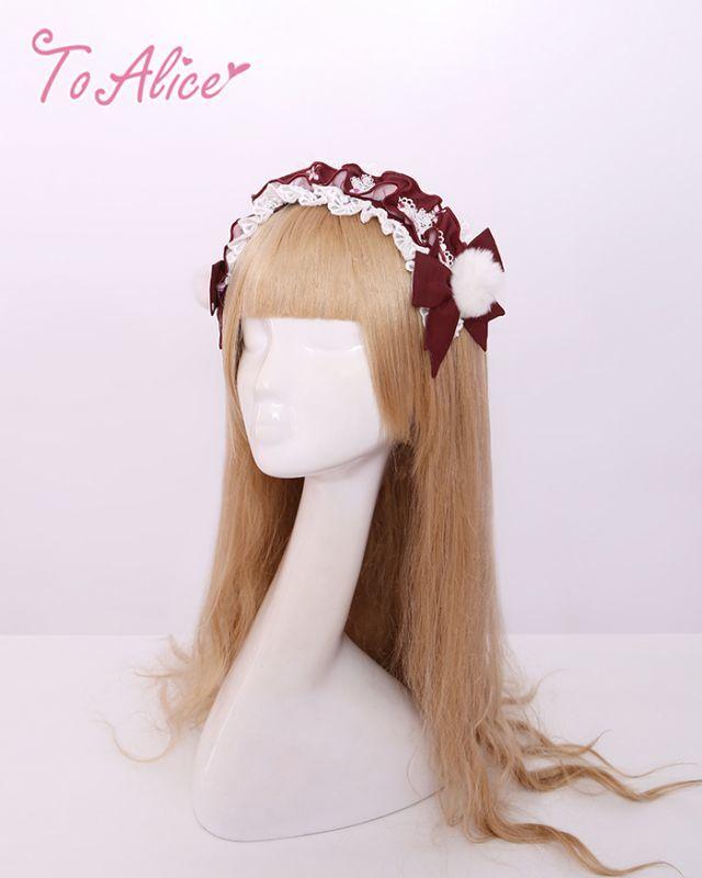 画像1: 【To Alice】S895鹿花畑ヘッドドレス風カチューシャ (1)