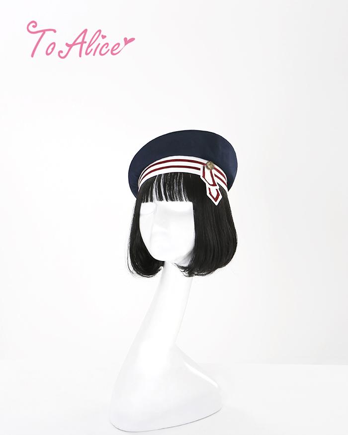 画像1: 【To Alice】S973白雪姫風ベレー帽 (1)