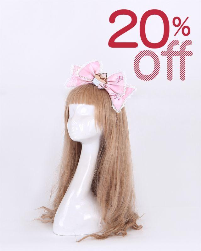 画像1: 【20%OFF】【To Alice】S986SweetsTeaPartyカチューシャ (1)