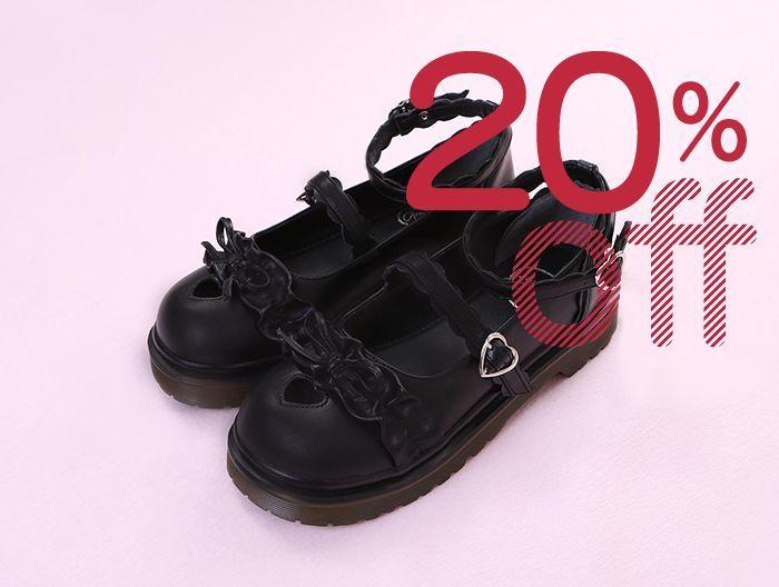 画像1: ☆【20%OFF】【To Alice】Z19118ハートくり抜きパンプス (1)